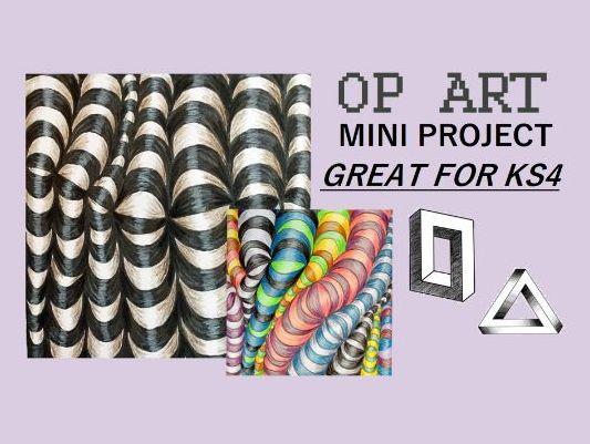 GCSE Op Art Illusions Mini Project KS4