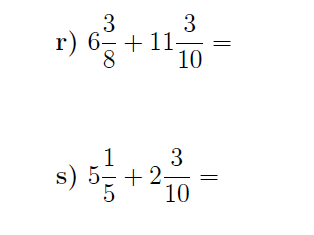 Fractions and integers worksheets