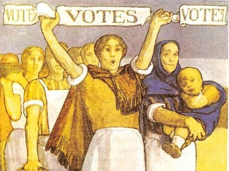 Why did women want the vote in 1900?