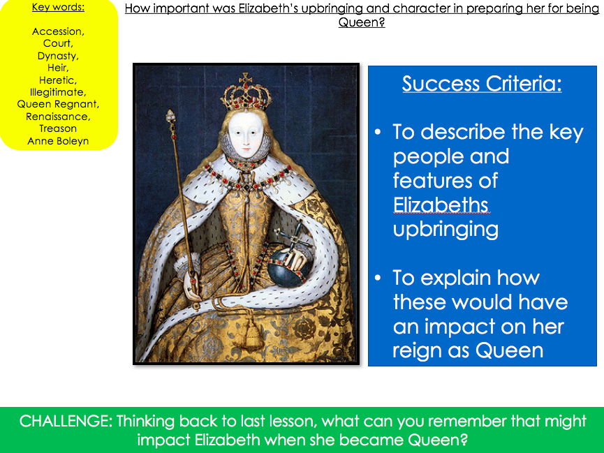How important was Elizabeth's upbringing and character in preparing her for being Queen?