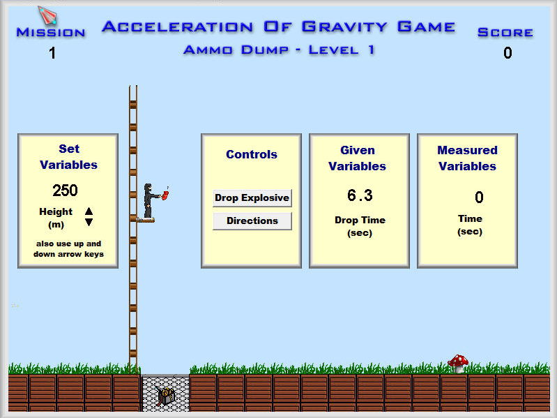 Physics - Acceleration of Gravity Game Software - Mechanics Games & Demos