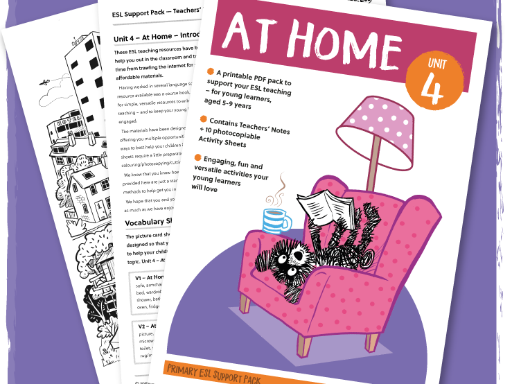 ESL/EFL Activity Pack: At Home - ages 5-8 years