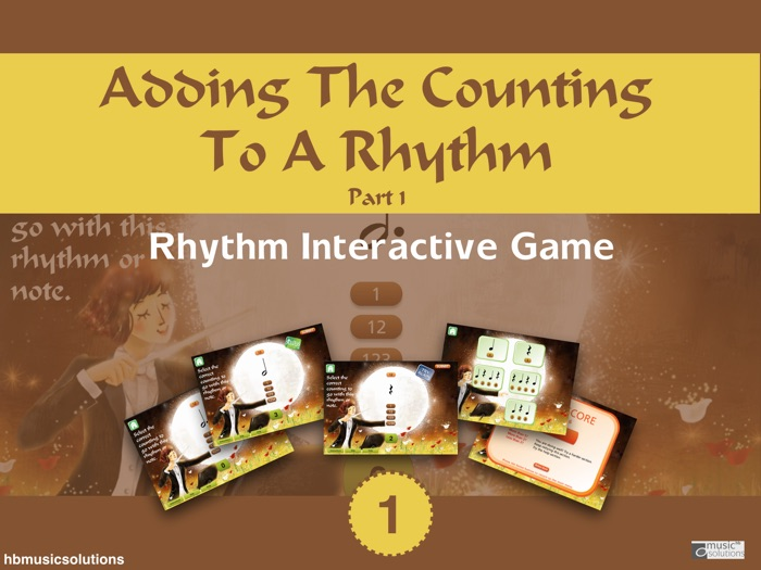 Adding The Counting To A Rhythm In Music Part 1 Music Interactive Resource
