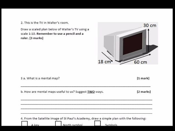 Year 7 Map and Mapping SOW 2017 18) End of Unit Test WITH ANSWERS