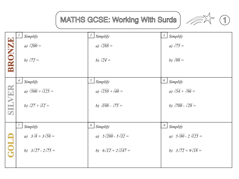 GCSE Maths: Working with Surds (Grade 7-9)