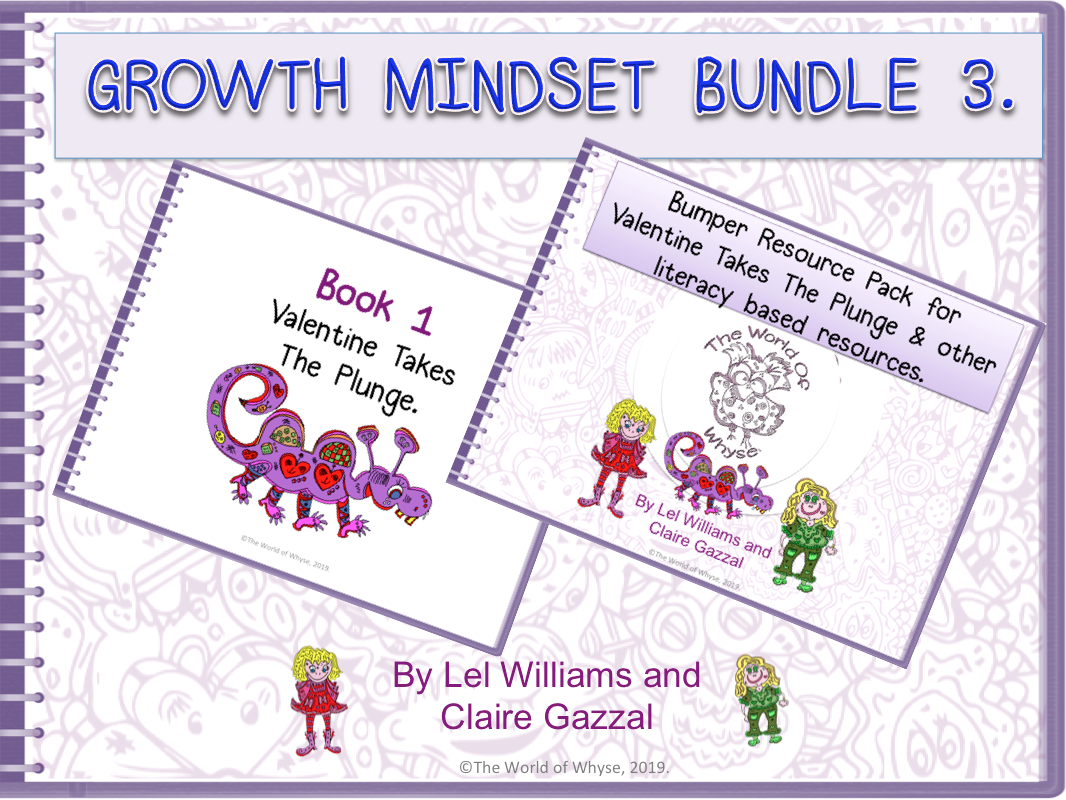 Growth Mindset Bundle 3 - Valentine Takes The Plunge by The World Of Whyse – Book 1 & Bumper Book 1 Resource Pack.