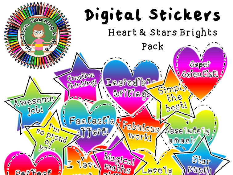 Digital Stickers [4] for Google Classroom, SeeSaw & Distance Learning Platforms