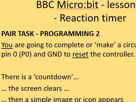 BBC microbit reaction timer - microbit block coding