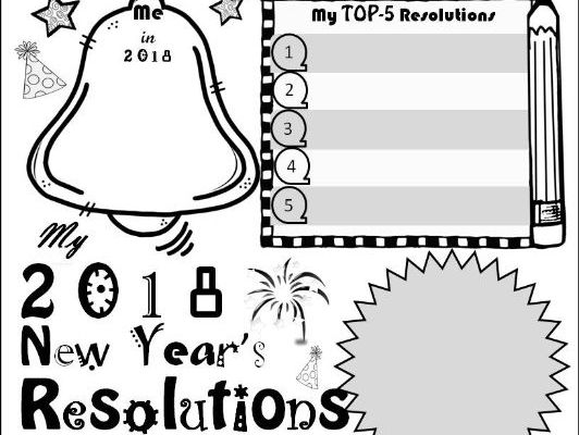2018 New Year's Resolution Activity Poster