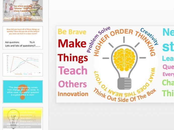 Higher Order Thinking 2017 Update