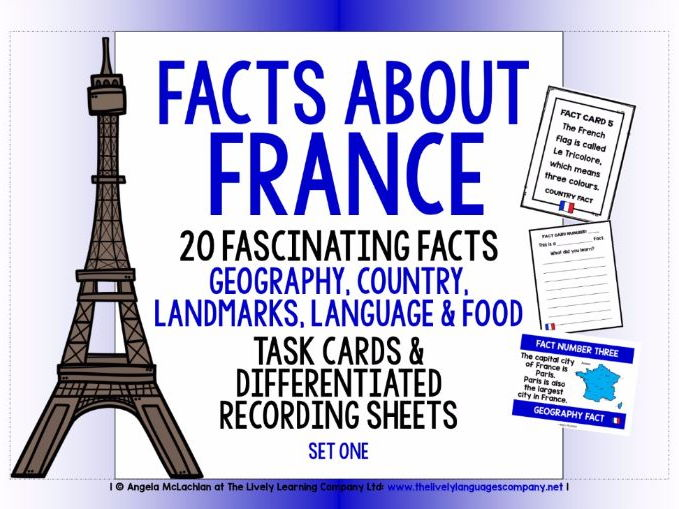 PRIMARY FRENCH  - 20 FACTS TASK CARDS, RECORDING SHEETS, DISCUSSION ACTIVITY (1)
