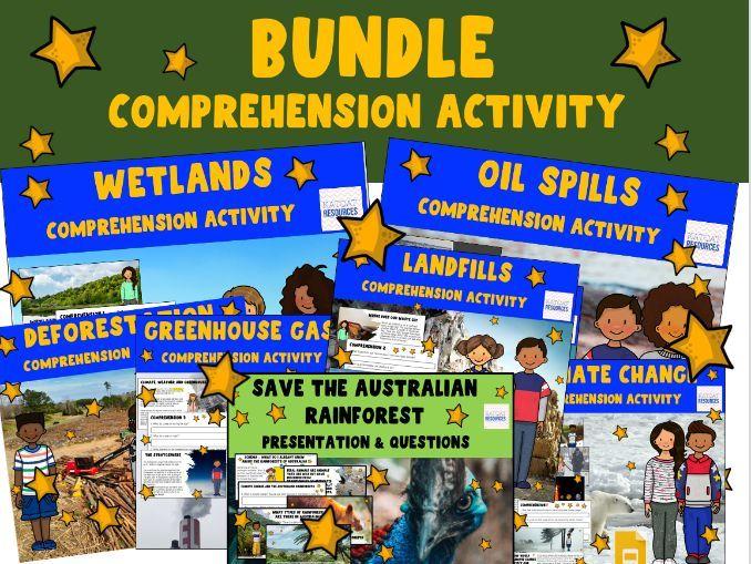 Greenhouse Gases,Wetlands, Oil Spills, Deforestation, Landfills, Greta Thunberg Earth Day Bundle