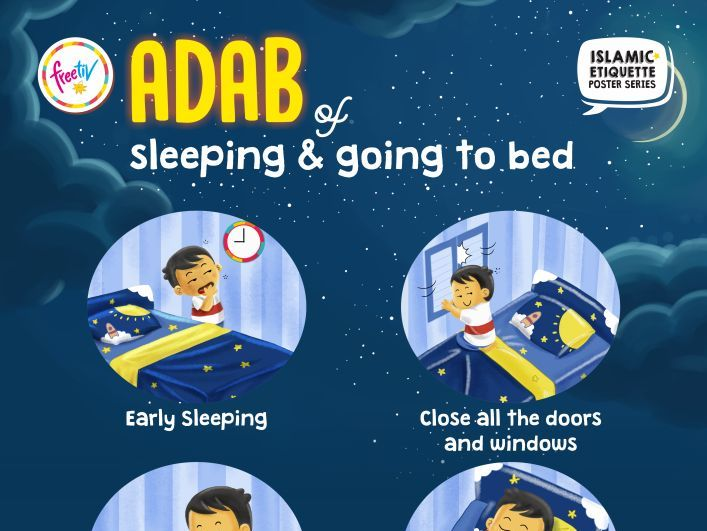 Islamic Etiquette Poster 02 - Adab of Sleeping and Going to Bed