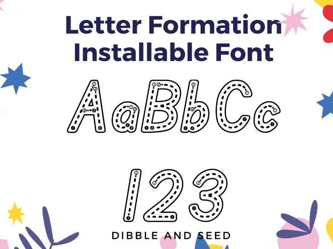 Learn to Write Installable Font- Letter Formation Alphabet Tracing Installable Font