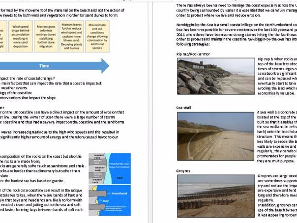 Geography revision guide GCSE New Spec - Rivers, coasts, climate change, rural and urban( Eduqas/AQ