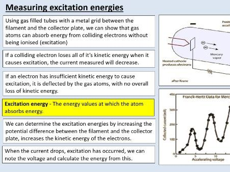 A level Physics (3.3) Collisions of electrons with atoms (Quantum phenomena)