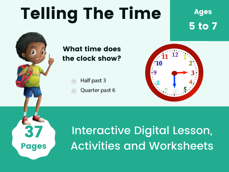 Telling The Time Activities for Kindergarten