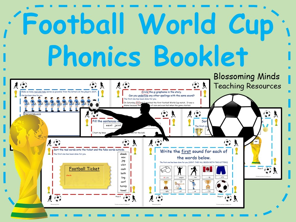 Football World Cup 2018 Phonics Booklet