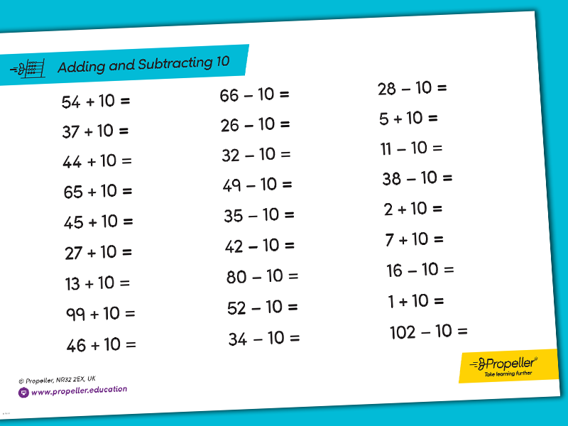 Adding and Subtracting 10 using 2 and 3-Digit Numbers | ARITHMETIC PRACTICE