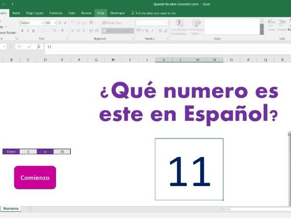 Random number generator for Spanish