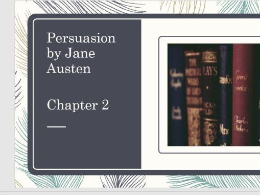 Persuasion by Jane Austen - Chapter 2