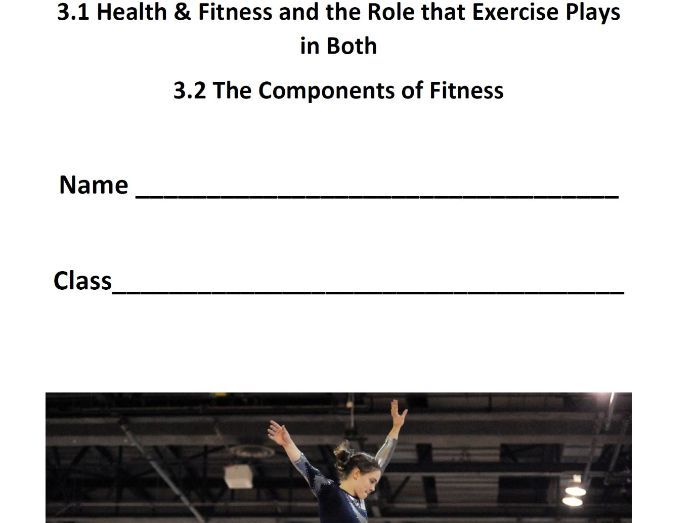 AQA GCSE PE - 3.1/3.2 Health & Fitness/The Components of Fitness - Pupil Booklet/Answer Booklet