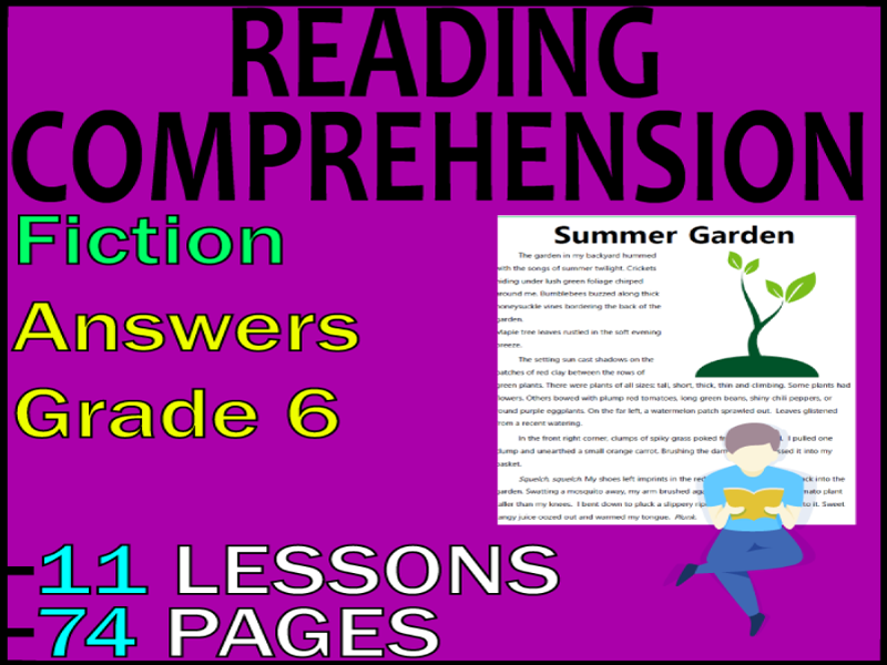 Fiction Guided Reading Comprehension Passages & Questions | Grade 6