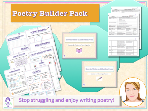 Poetry Writing Workbook PDF - 2 Lesson Complete Lesson Plans! - English Workbook and Projec