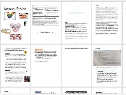Sexual Ethics Workbook and Power Points