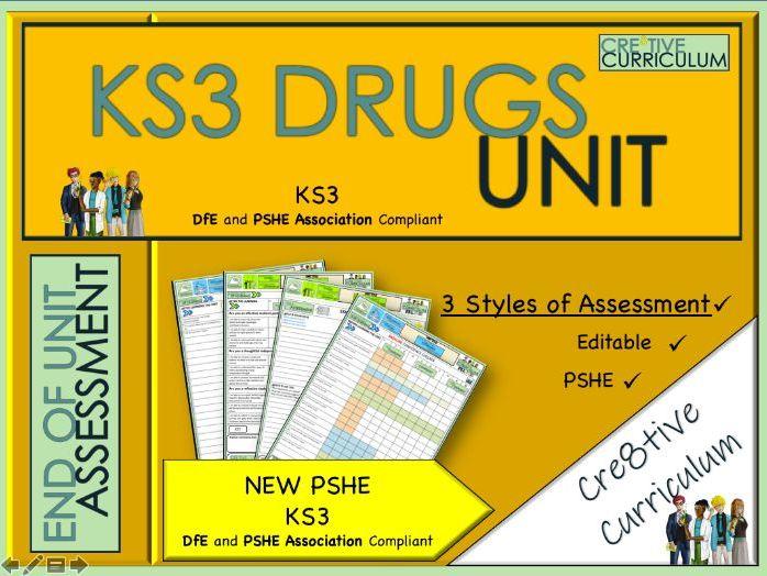 KS3 Drugs Unit PSHE Assessments