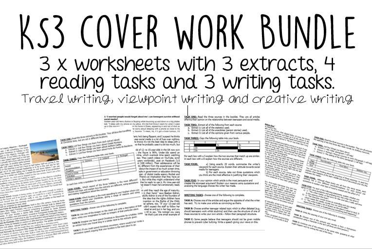 Cover Work Bundle (KS3)