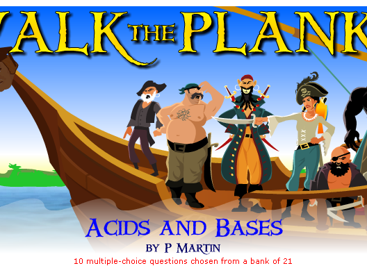 Starter or Plenary Game involving Acids and Bases.