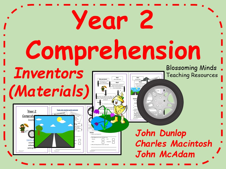 Reading Comprehension - Inventors (materials) - Science - Year 2