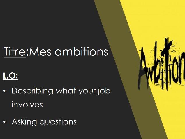 Studio 3 vert module 3 unit 5 mes ambitions