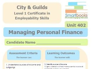 City & Guilds Unit 402 - Managing Personal Finance - Workbook/Final Assignment
