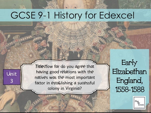 Edexcel 9-1 GCSE Early Elizabethan England : Lesson 18 Why did attempts to colonise Virginia fail?