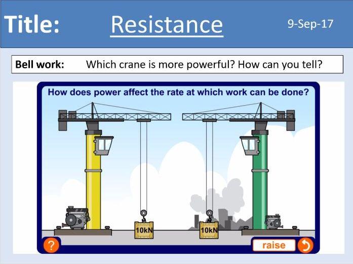 AQA New GCSE Electricity - Lesson 6 - Resistance