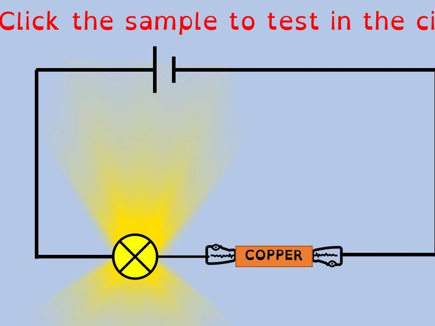 Conductors and insulators PowerPoint animation