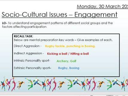 AQA 9 - 1 GCSE PE Engagement Patterns Lesson
