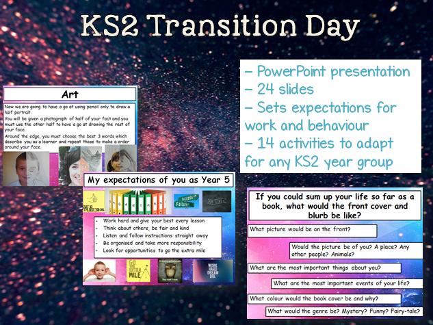 KS2 Transition Day - 14 activities Y3 Y4 Y5 Y6