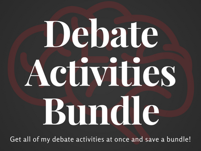 Debate Activities Bundle