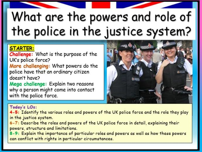 Police + Justice System  AQA Citizenship GCSE