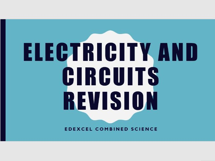 Electricity revision - current and voltage