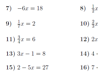 Linear equations worksheet (with solutions)