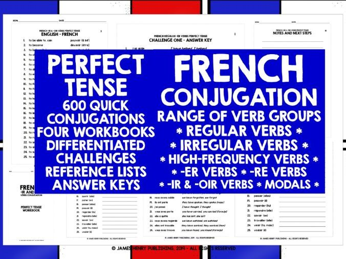 FRENCH PERFECT TENSE CONJUGATION PRACTICE