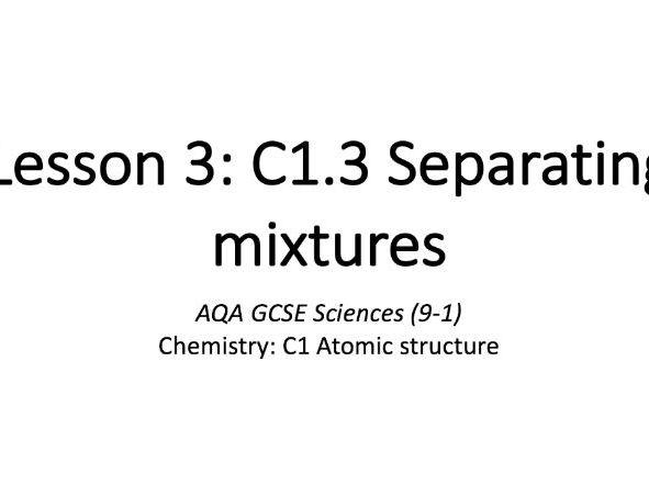 C1.3 Separating mixtures