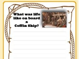 Coffin Ships writing activity