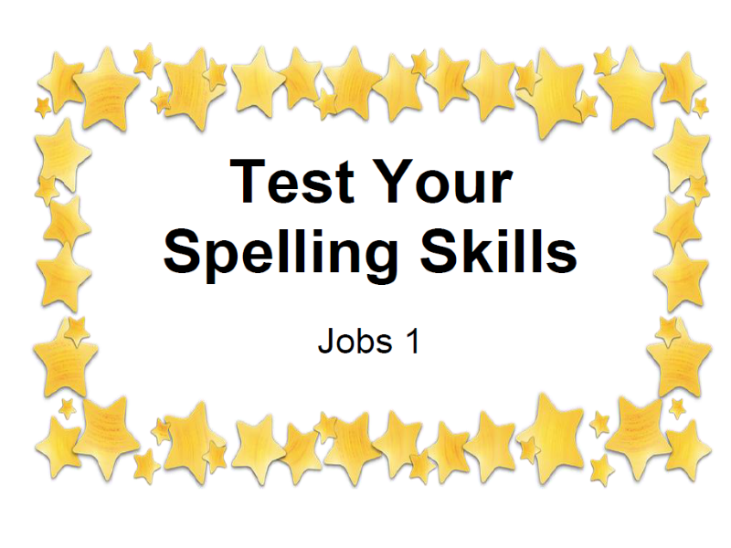 Test Your Spelling Skills Jobs 1