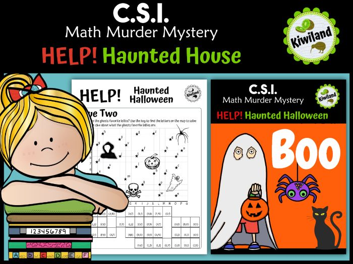 CSI Math Murder Mystery - HELP! Haunted Halloween