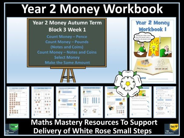 Money: Year 2 Money - Autumn - Block 3 - Week 1 - Workbook 1 - To Support Delivery of White Rose